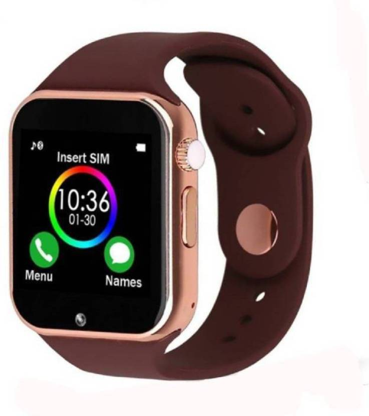 PAFL A1 Bluetooth Smartwatch Support Sim Card and SD Card Suitable For  ,,,MI,, Smartphones Brown Smartwatch