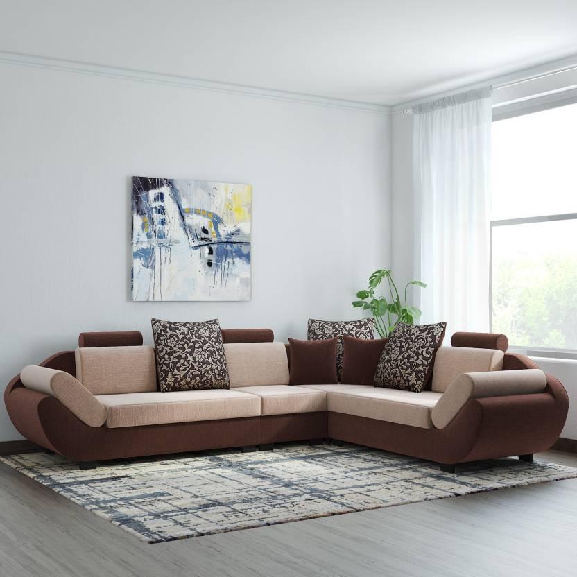Surprising Bharat Lifestyle 888 Fabric 6 Seater Sofa Theyellowbook Wood Chair Design Ideas Theyellowbookinfo