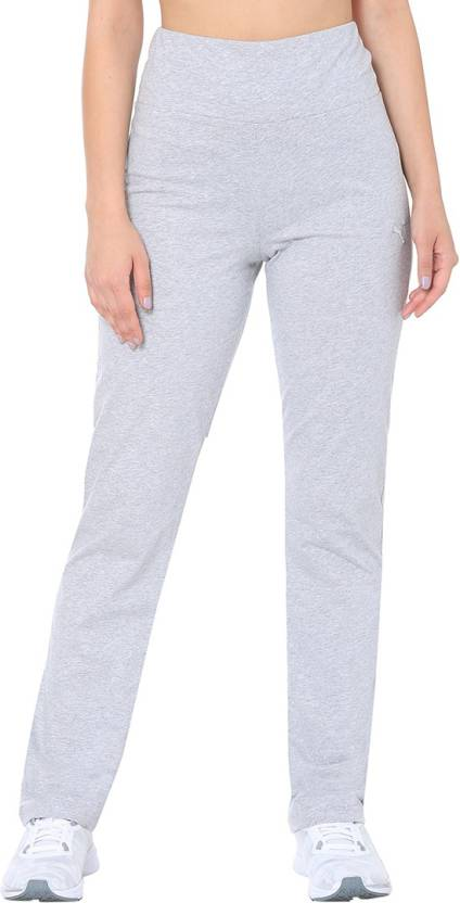 9801839dd27b Puma Solid Women Grey Track Pants - Buy Puma Solid Women Grey Track Pants  Online at Best Prices in India