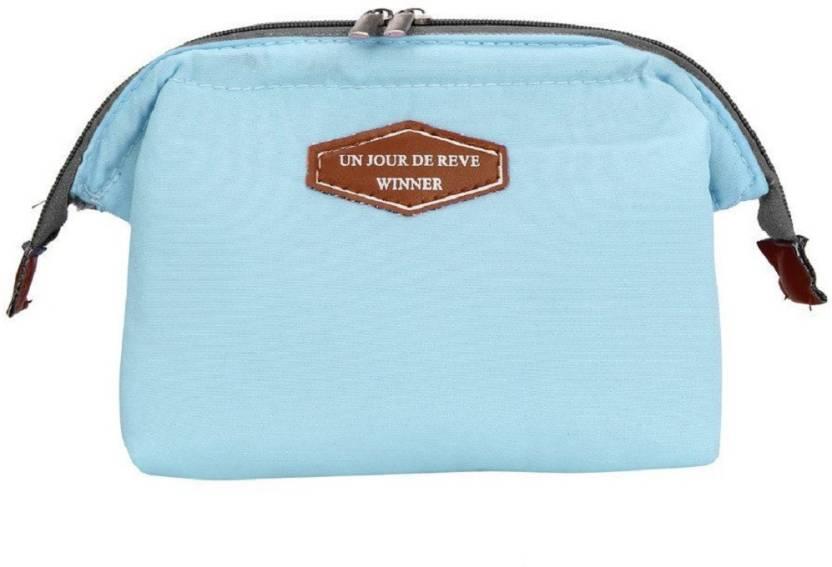 ef511a3efe6 Jadebin Zipper Women Makeup Cosmetic Bag Organizer Toiletry Storage Travel  Handbag Wash Pouch Travel Toiletry Kit (Blue)