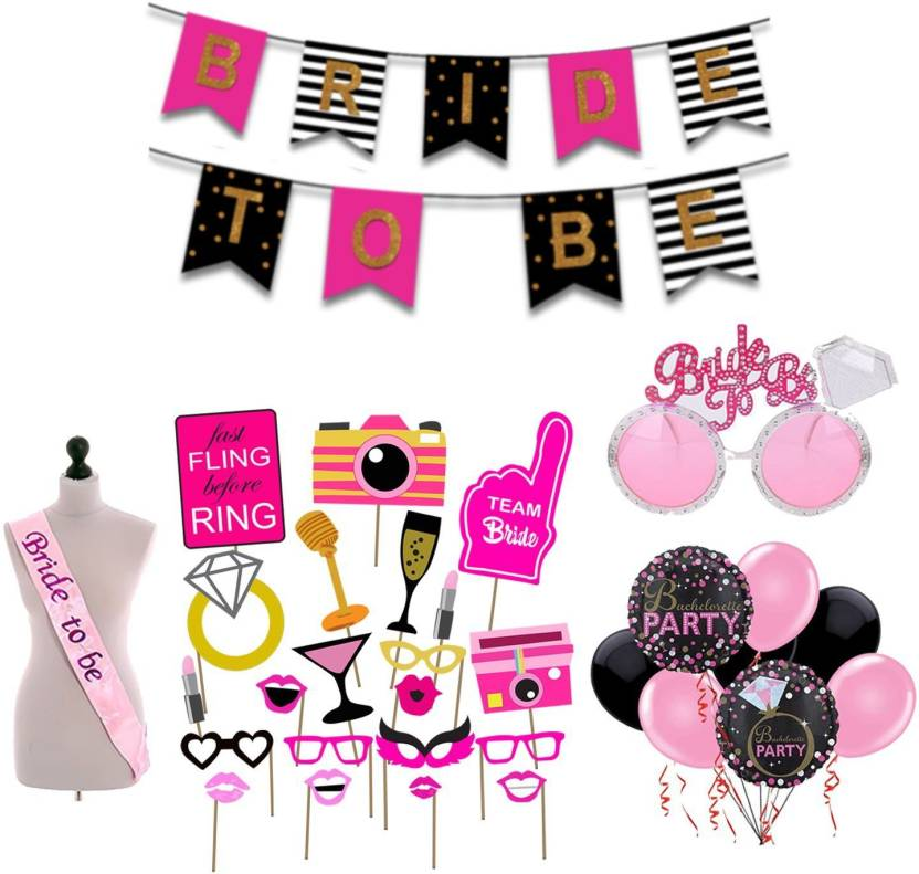 Party Propz Ride To Be Combo 18pcs Props 1 Banner Sash