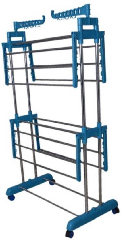 b13744881c3 TNC Desire Collapsible Clothes Drying Rack 2-Tier Folding Laundry Dryer  Hanger Stainless Steel Floor
