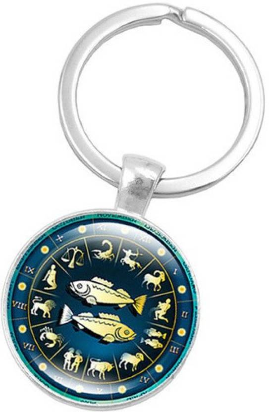 842bb094d1 DALUCI Pisces Zodiac Signs Keychain Key Rings Bag Car Round Glass Cabochon  Pendant Man Woman Gift Key Chain Price in India - Buy DALUCI Pisces Zodiac  Signs ...