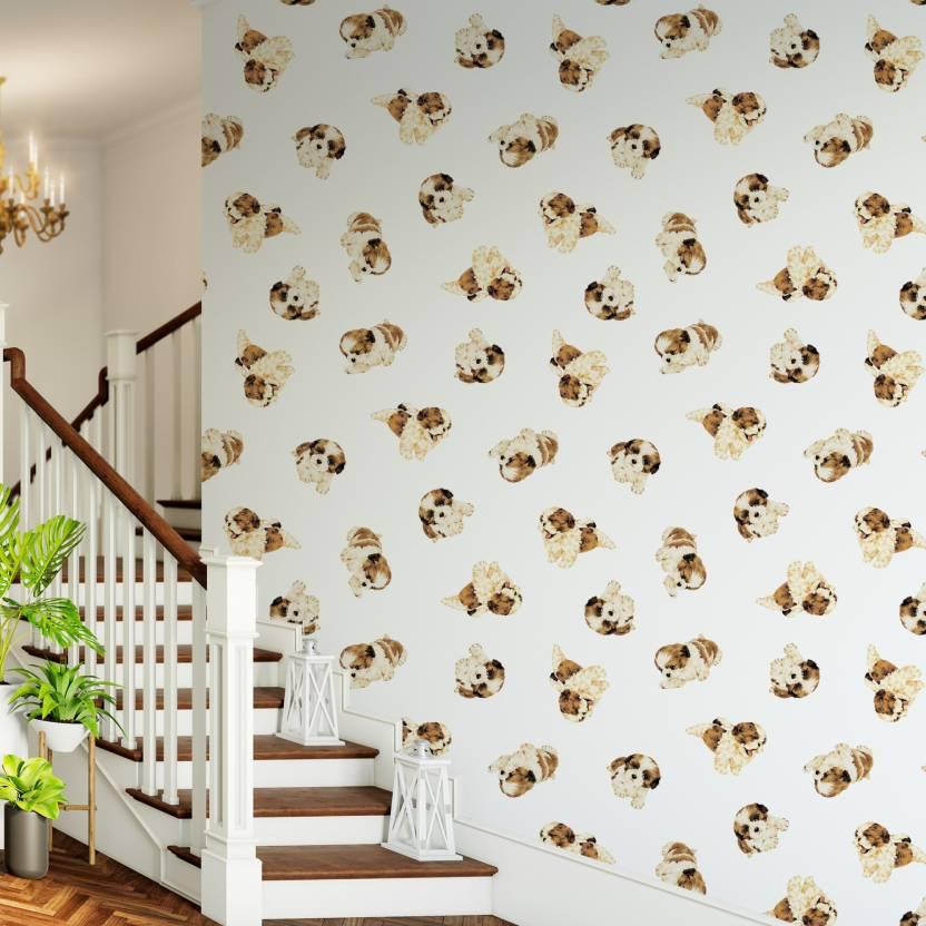 Destudio Large Dog Pattern Peel And Stick Wallpaper Sticker