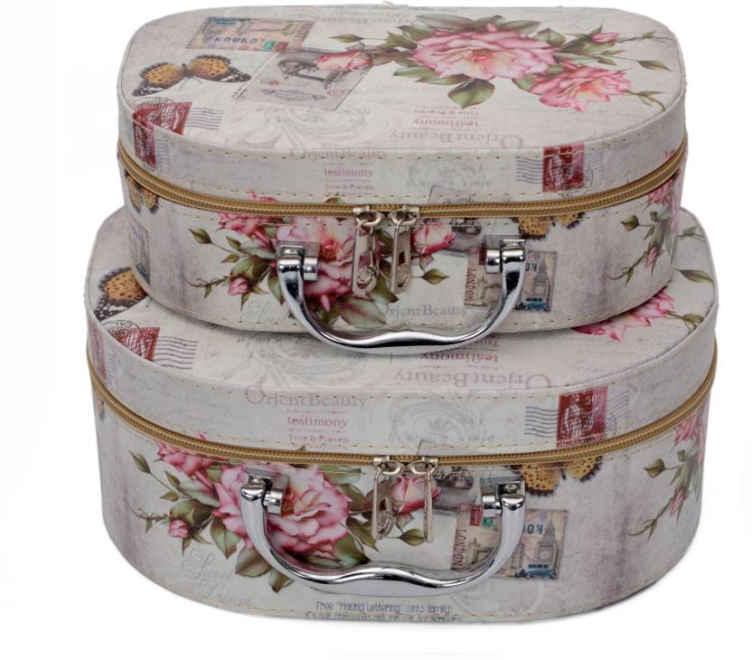 375347d83aa48c Store2508 Professional Beauty Make Up Storage Box Nail Cosmetic Box Vanity  Case/Jewelry Box/Cosmetic Organiser Bag (Set of 2) (Design_D) Makeup and ...