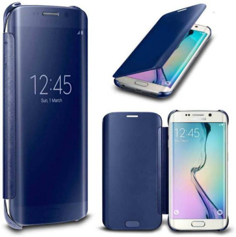 buy popular 26fe6 fb971 SESS XUSIVE Flip Cover for Luxury Clear View Mirror Flip Book Smart Case  Cover for Samsung Galaxy S8