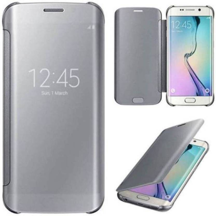 luxury clear view mirror flip smart case cover for samsung galaxy s8