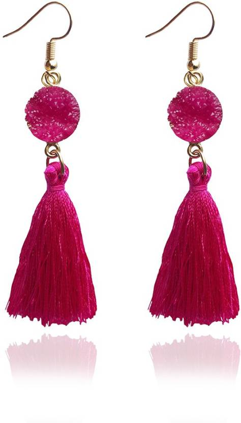 cf5b6a5c881 Flipkart.com - Buy RackJack Tassel Earrings Silk Thread Extremely ...