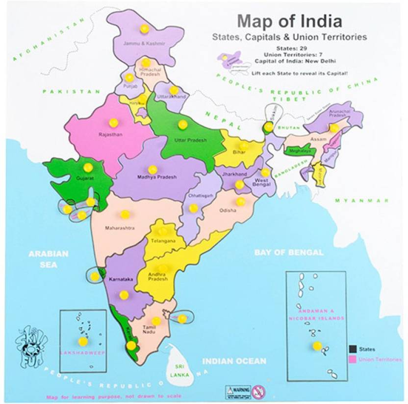 Skillofun Map Of India Price in India - Buy Skillofun Map Of India ...