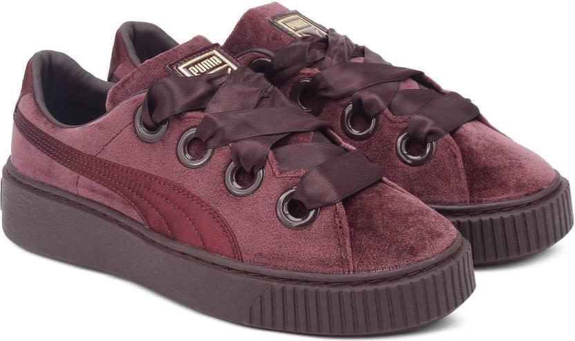 Puma Platform Kiss Velvet Wn s Winetasting-Go Running Shoes For Women  (Maroon) da9cf825b
