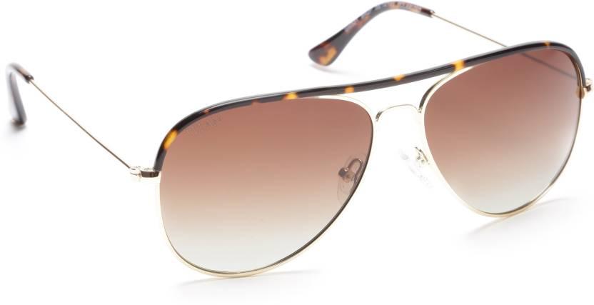 b2da44e4b825 Buy Titan Aviator Sunglasses Brown For Men Online @ Best Prices in ...