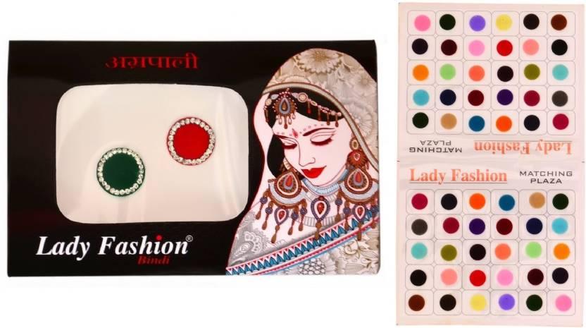 cb414a244489 Lady Fashion Bindi No. 14 and 31 Forehead Multicolor Bindis (Fashionable  Bindi)
