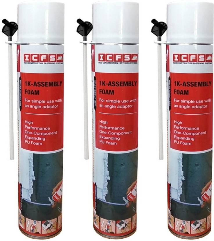 ICFS 1K Assembly Polyurethane Expansion PU Foam Spray - Pack of 3 Crack  Filler