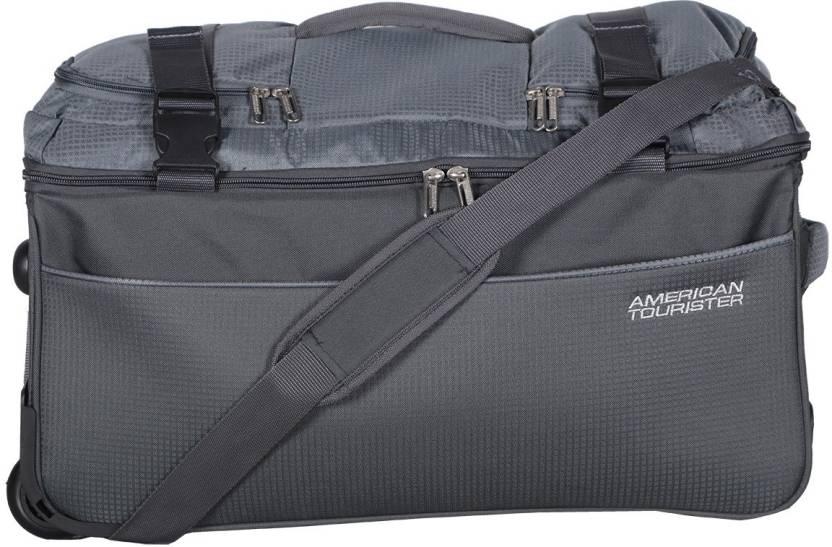 American Tourister Turin Wheel Duffle 65cm (Grey) Travel Duffel Bag (Grey) 603ddc6cd4209