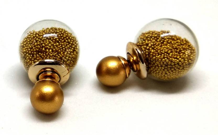 1708729d4 Flipkart.com - Buy Ornativa Golden Double Sided Studs Earrings - Gold  Plated Stylish Earring For Women & Girls, Perfect Size for Everyday Wear  Pearl Copper ...