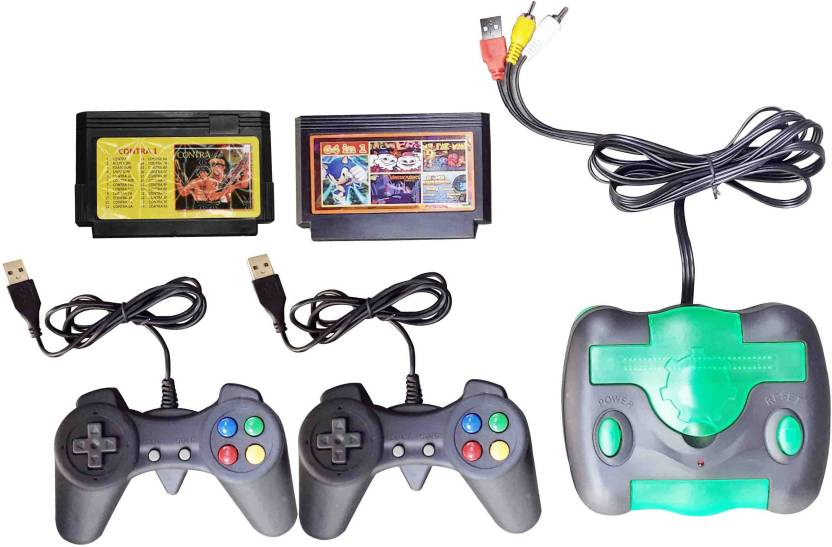 VK MART CG-0071 8 BIt USB TV Video Game with Sonic, Snow Bros, Tennis, Star  Force, Bomber Man, Fire Dragon And [Contra Game Cartridges]