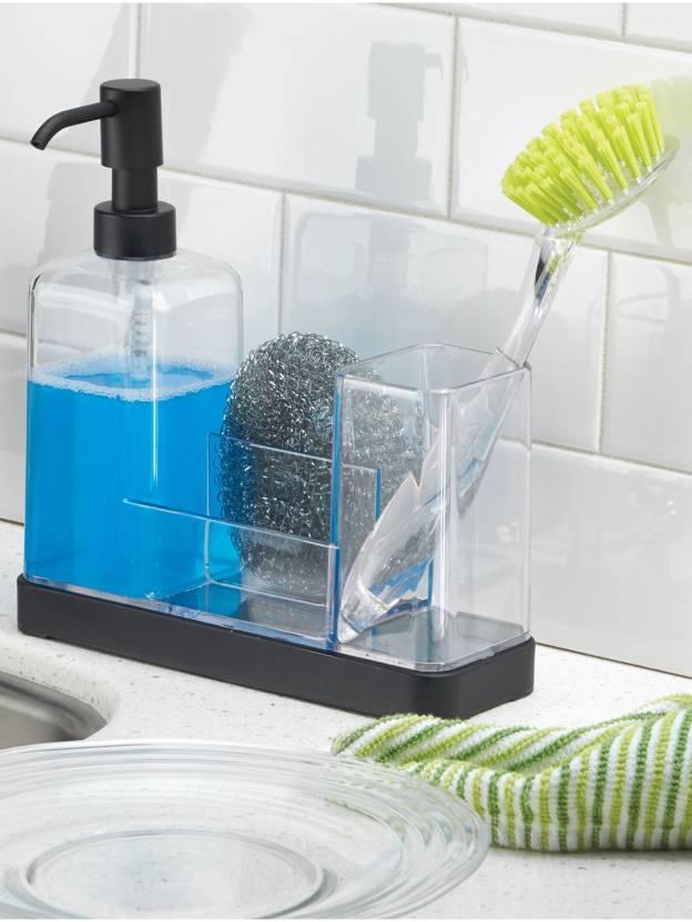 Interdesign Forma Kitchen Soap Dispenser Pump Sponge Scrubby And