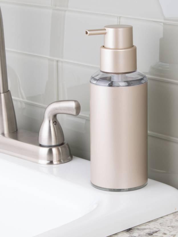 Interdesign Metro Aluminum Soap Dispenser Pump For Kitchen And Bathroom Vanity 296 Ml Conditioner Foam