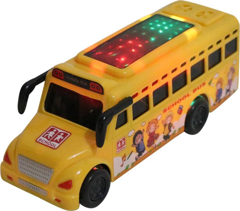 BEST SHOP TINY YELLOW SCHOOL BUS WITH MUSIC AND LIGHT