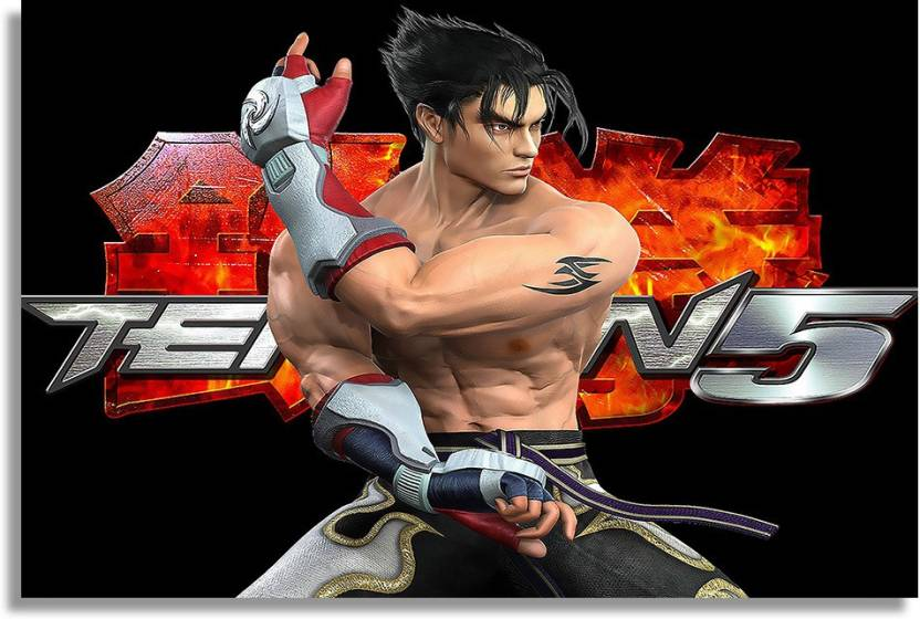 Tekken Crazy Jin Kazama Paper Print Gaming Posters In India Buy