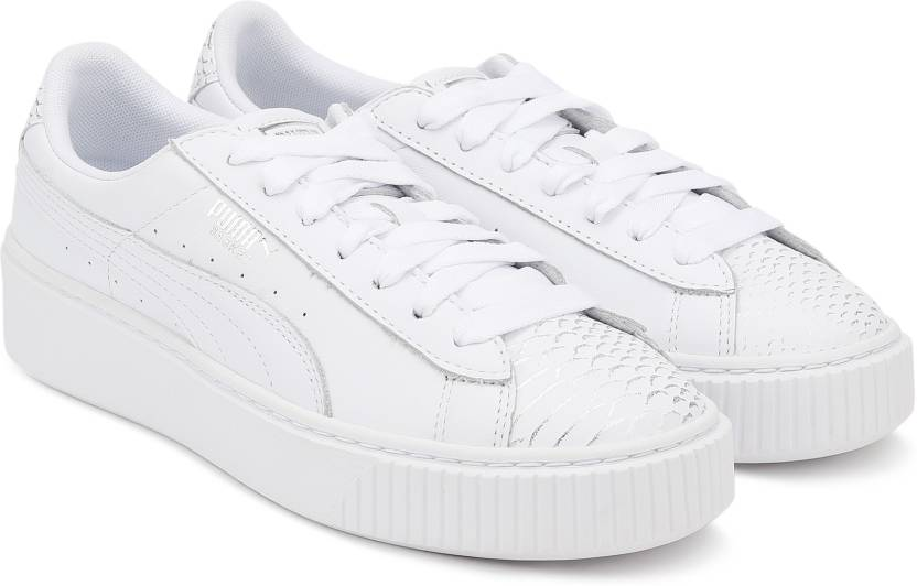 best sneakers d79f3 a2b9d Puma Basket Platform Ocean Wn's Running Shoes For Women