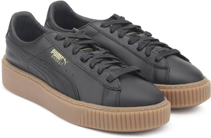 f1774d7d5c649c Puma Basket Platform Core Puma Black-Puma Bla Running Shoes For Women  (Black)