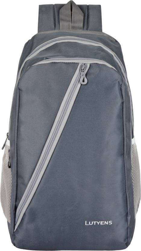 b3d3fe94e2 Lutyens Grey Mini School Bag II Backpack II Multiuse bag II Smart Tuition  Bag (21 Ltr) (Lutyens 1002) Waterproof School Bag (Grey