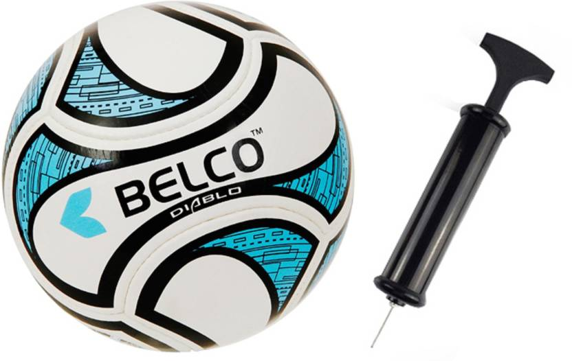 BELCO World Cup 2 Soccer Ball With Air Pump Football   Size: 5 Pack of 2, Multicolor