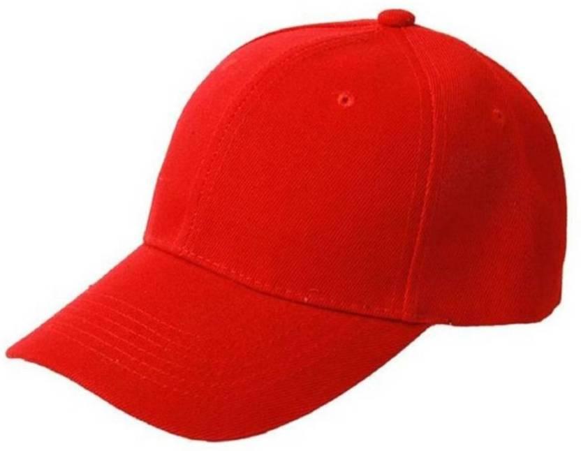 Goldstar Solid Red Cotton Plain Cap Cap - Buy Goldstar Solid Red Cotton Plain  Cap Cap Online at Best Prices in India  18828892b616