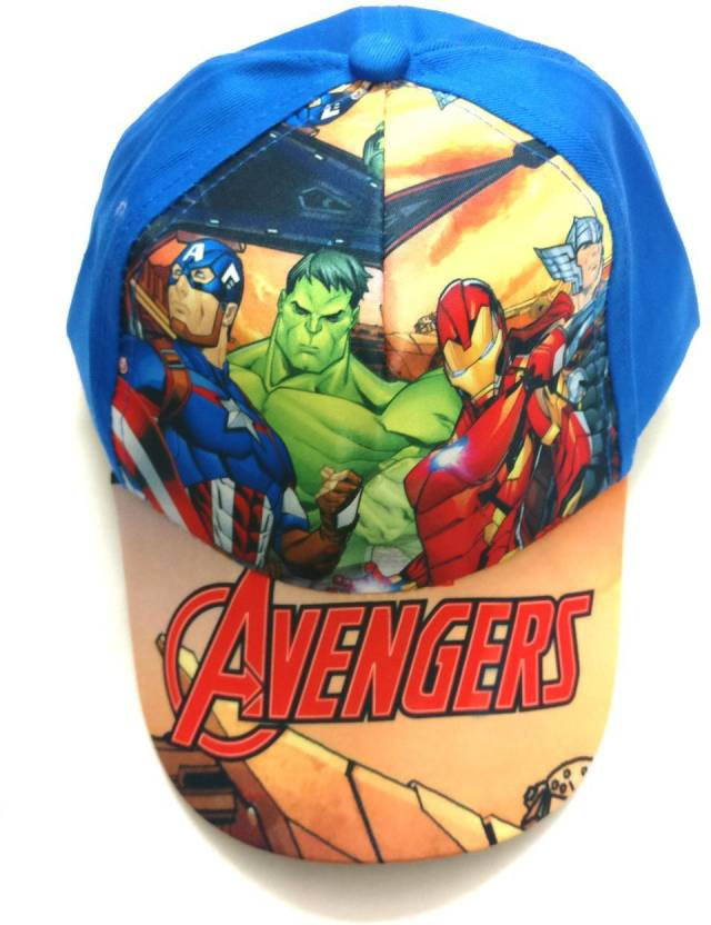 f5b7508630d Shopkooky Avenger print Red  Blue FANCY CAP for all function  Free size up  to boys 12 years Cap - Buy Shopkooky Avenger print Red  Blue FANCY CAP for  all ...