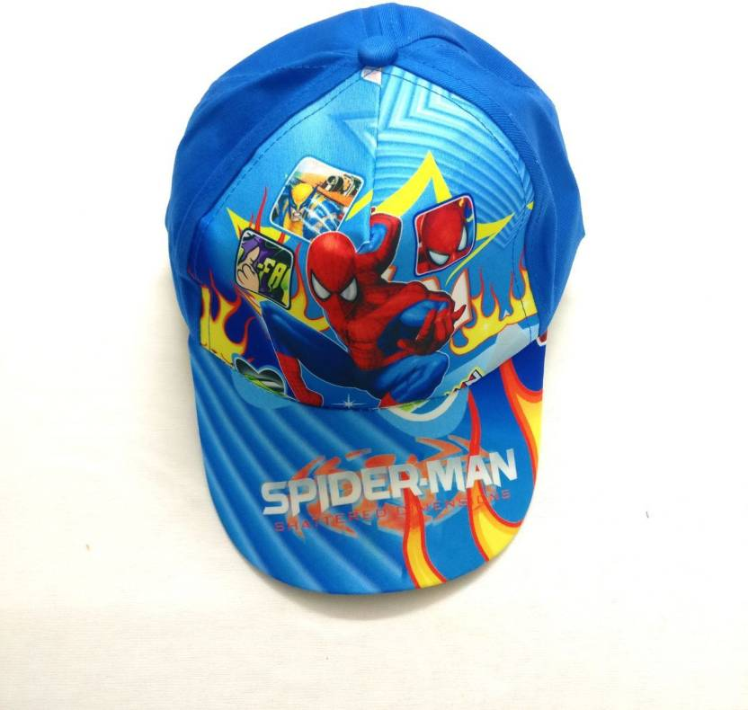 7a8c6d4224a Shopkooky Spiderman print Blue FANCY CAP for all function  Free size up to  boys 12 years Cap - Buy Shopkooky Spiderman print Blue FANCY CAP for all  function ...