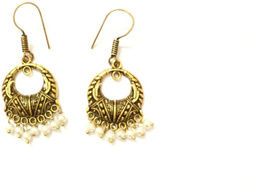 Flipkart Crystal Enerzia Gold Earring Design