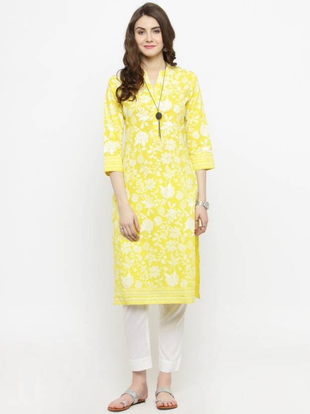 3994e1c6ddc Varanga Women s Floral Print Straight Kurta - Buy Varanga Women s ...