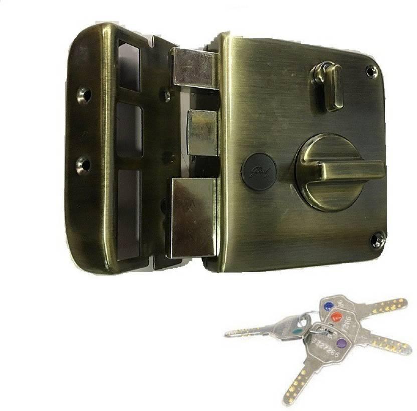 a3647fdd93f Godrej TRIBOLT ULTRA+XL DEADBOLT ANTIQUE BRASSL 1CK 4 KEYS (FREE  INSTALLATION) Lock (ANTIQUE BRASS)