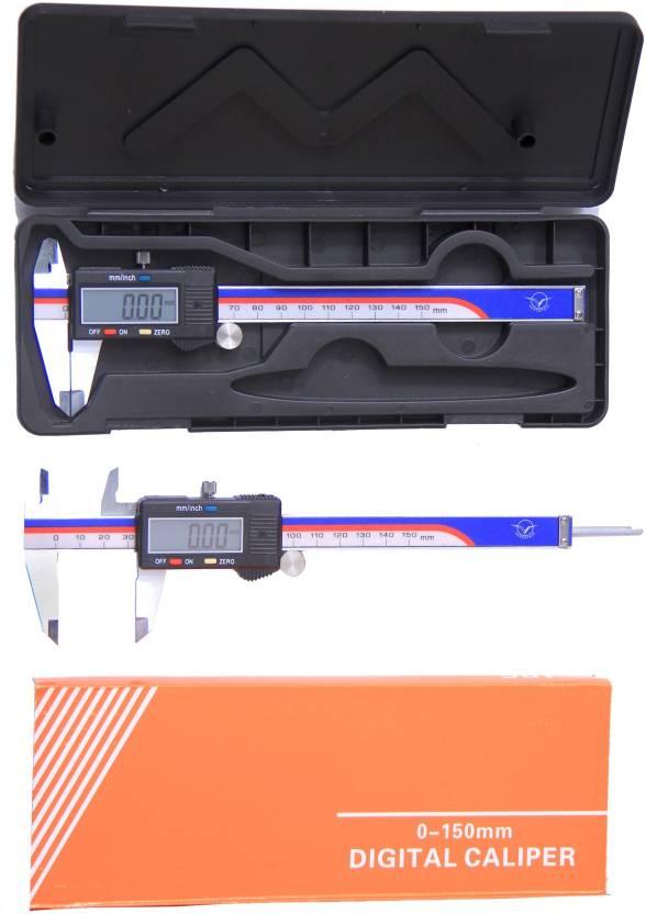 BalRama Aerospace Digimatic Vernier Caliper 0–150 mm/0–6 inch  Metric/Imperial Dual Reading Electronic Digital Vernier Caliper with  Storage Box Case +