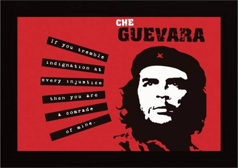 Posterskart Che Guevara Quote Framed Poster Paper Print (20 inch X 14 inch) a14758ea9a