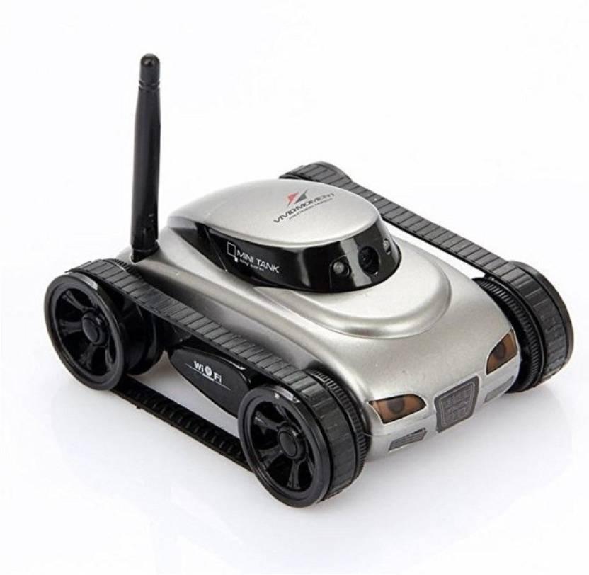 Dinaarkan I Spy Mini Wifi App Controlled Wireless Spy Tank Car With