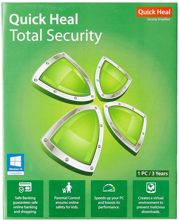 quick heal TOTAL SECURITY 3 PC 3YEAR - Buy quick heal TOTAL SECURITY
