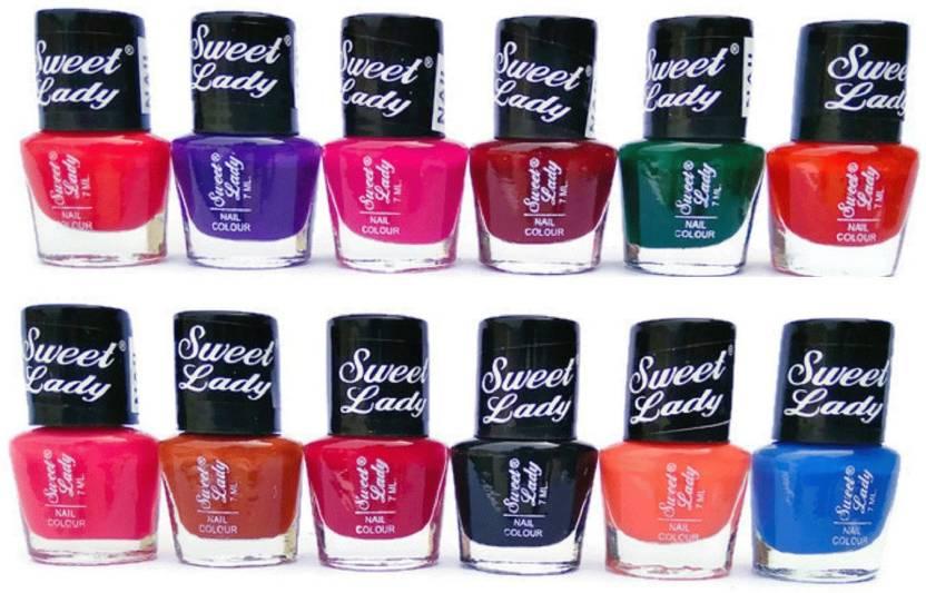 Sweet Lady Nail enamel Nail Polish Kit Multi color shade Matt X4A ...