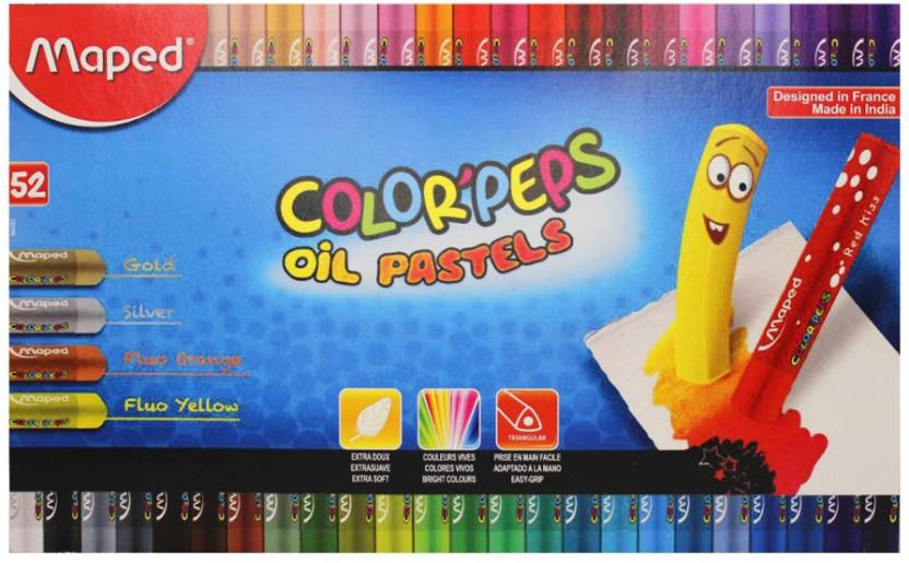 Maped Color'Peps Oil Pastels 52 Shades Cardboard Box