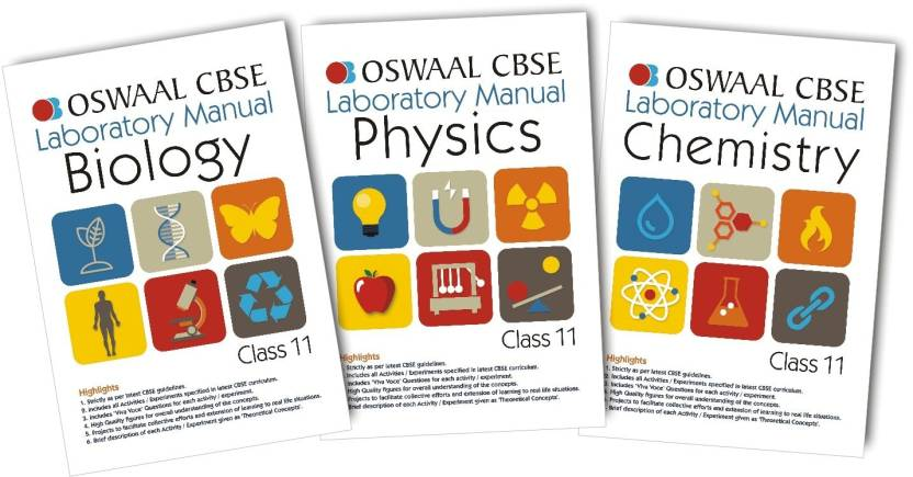 CBSE Laboratory Manual - Biology/Physics/Chemistry for Class 11: Buy