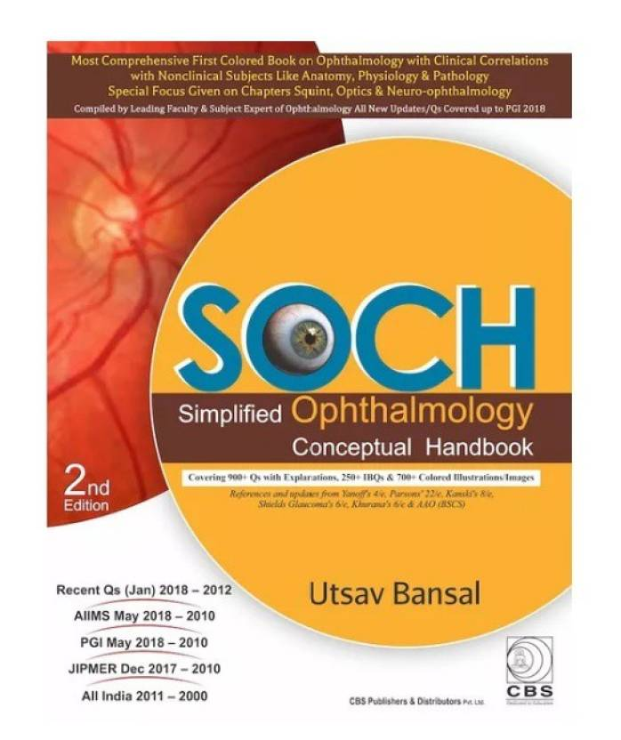 SOCH Simplified Ophthalmology Conceptual Handbook 2nd