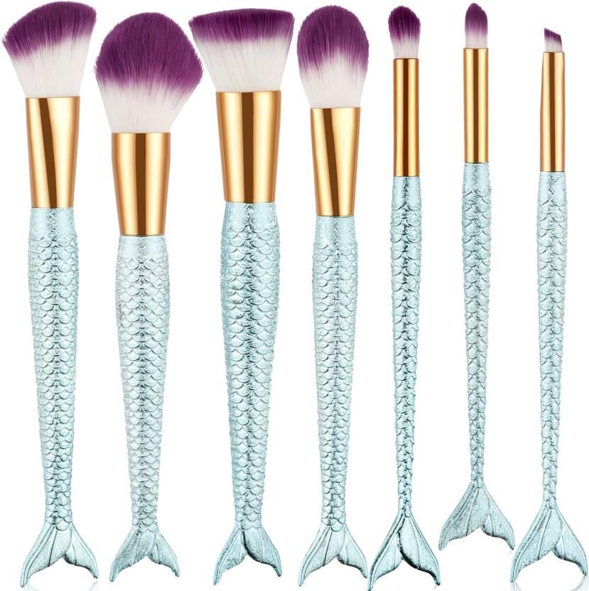 d877a41dbba Beauté Secrets 7 Pcs Fish Tail Makeup Brush Set Cosmetic Eyeliner Eyebrow Makeup  Brushes Tools (Pack of 7)