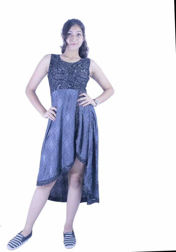 a42b2063b588c Katsi Women's High Low Black Dress - Buy Katsi Women's High Low ...