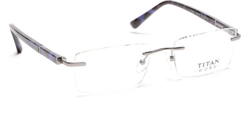 617ff3ae378 Titan Rimless Rectangle Frame Price in India - Buy Titan Rimless ...