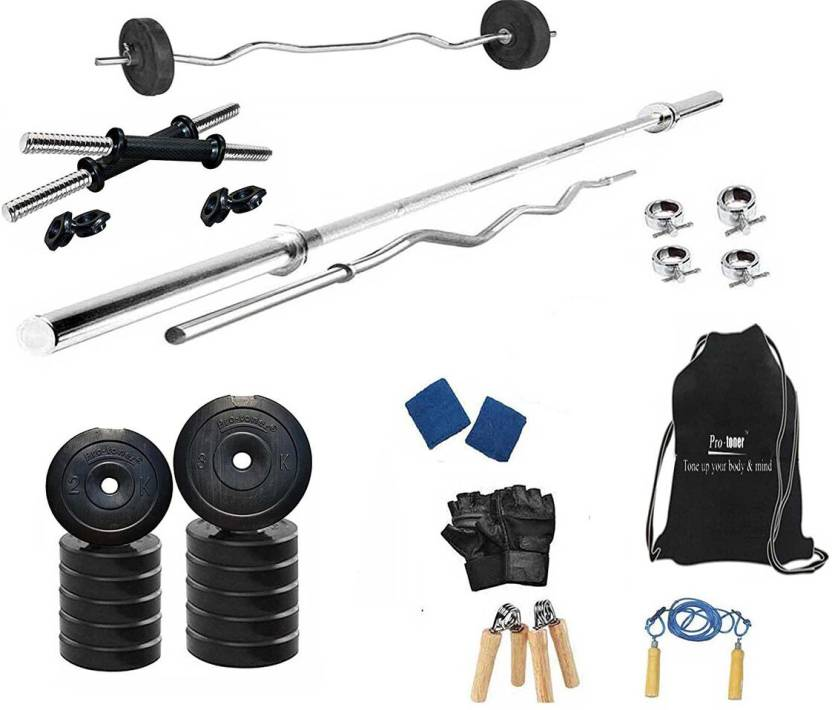 65bc77040b6 Protoner 30 Kg PVC Home Gym Set with Rods Home Gym Combo Price in ...