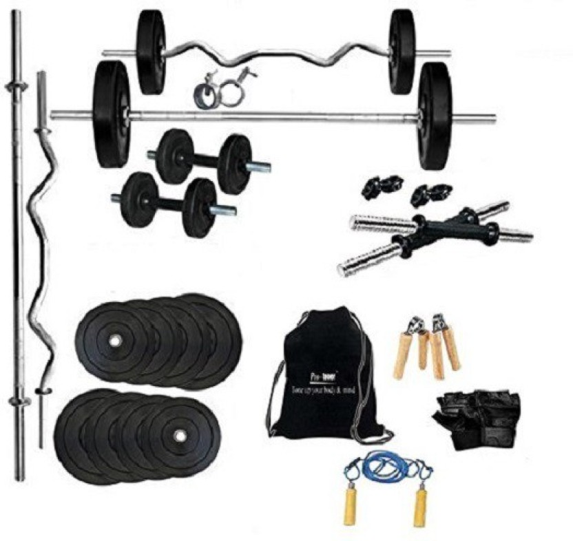 Protoner kg rubber home gym set with rods home gym combo price
