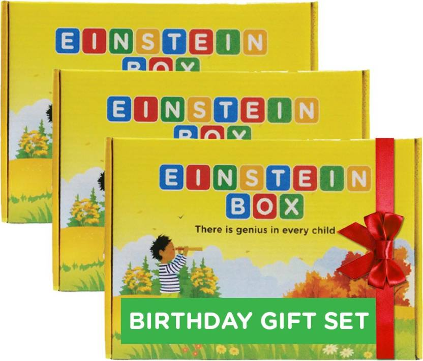 Einstein Box Birthday Gift Set For 1 Year Old Boys Girls 3 Multicolor
