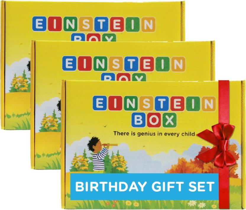Einstein Box Birthday Gift Set For 2 Year Old Boys Girls 3 Multicolor
