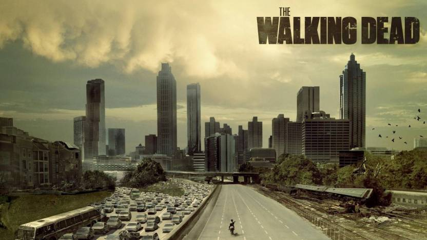 Wall Poster a city walking dead reddit Wall Poster Print on Art